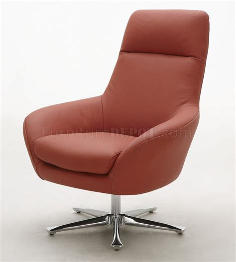 orange brown or white top grain leather modern swivel