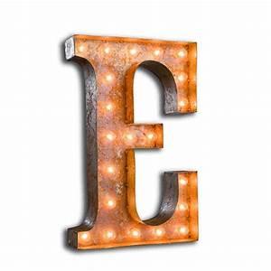 letter light e the vintage industrial With letter e light