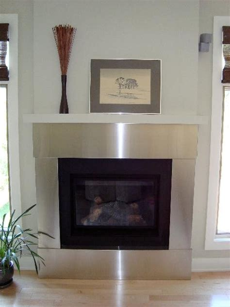 stainless steel trim  fireplace  ridalco fireplace