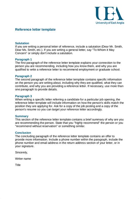 letter of recommendation template for employee 9 employee reference letter exles sles in pdf