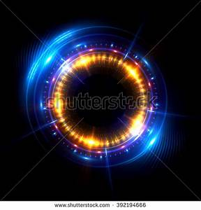 Glow Swirl Light Effect Circular Lens Stock Illustration