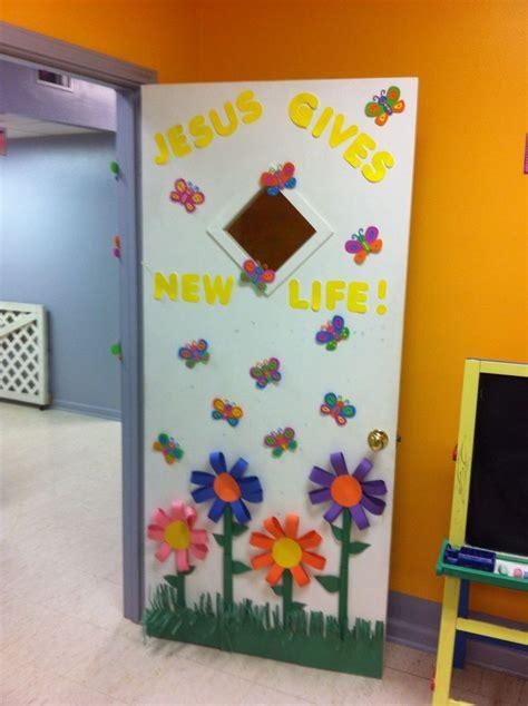 cute spring summer door idea sunday school classroom
