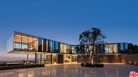 million newly built modern hilltop mansion  bel air california homes   rich