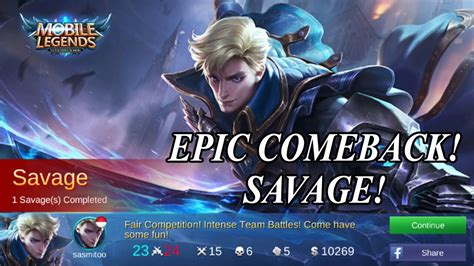 Best Build Alucard Tukang Epic Comeback!! Savage Kill