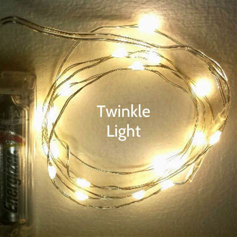 20 warm white twinkle fairy lights