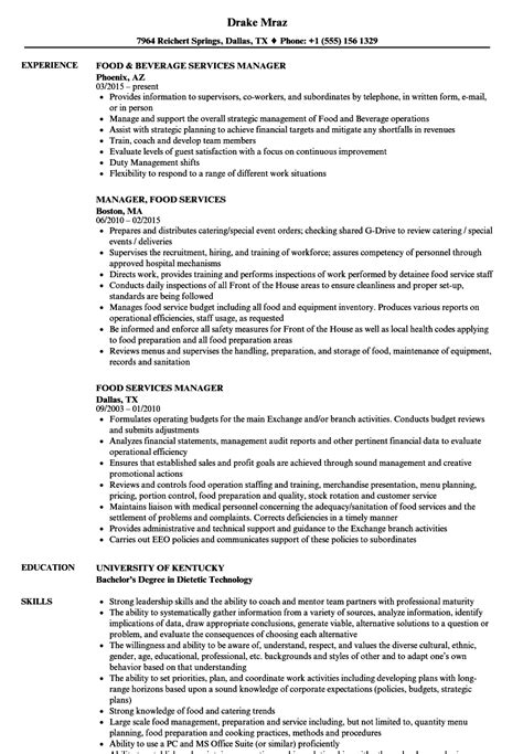 Food Services Resume by Dining Services Manager Resume Region 14 School District