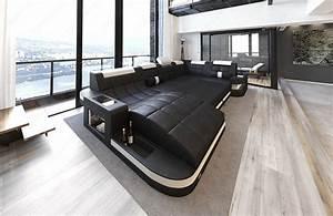 Garnitur U Form : wohnlandschaft wave u form luxus couch garnitur mit led rgb beleuchtung ecksofa ebay ~ Indierocktalk.com Haus und Dekorationen