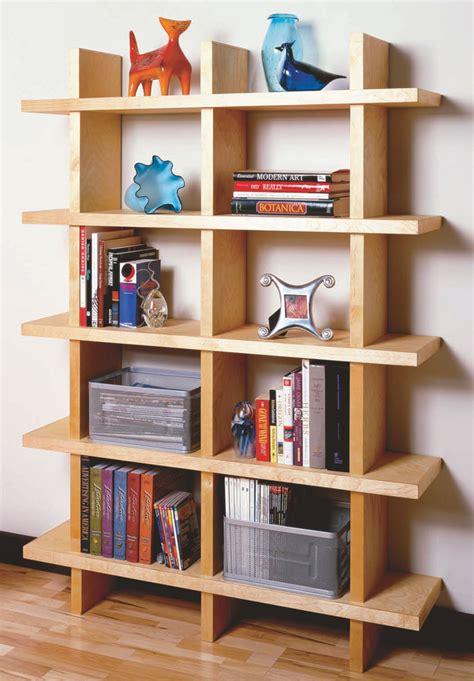 modern bookcase plans plans diy