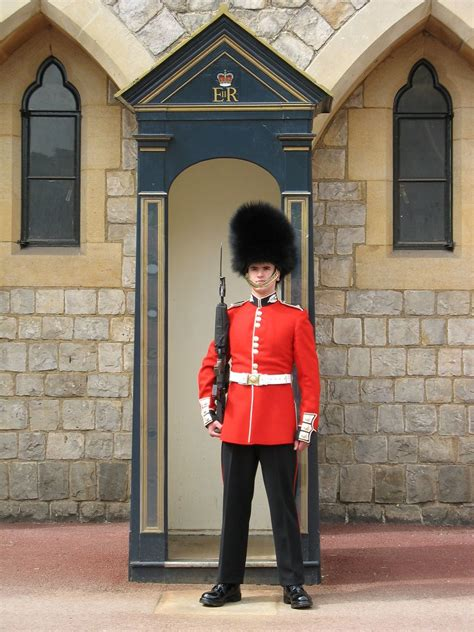 foot guard windsor castle england  foot guard  duty