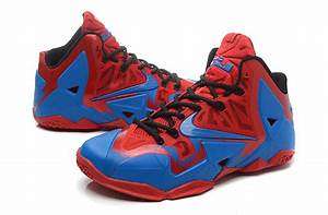 Real Lebron James 11 Red Blue For Cheap
