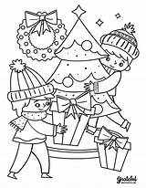 Coloring Christmas Printable Pages Tree Around Merry Sheets Activity Fun Printables Holiday sketch template