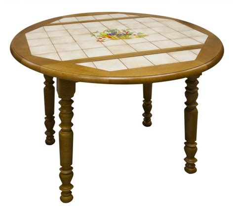 table de cuisine carrelee table ronde carrel 233 e 224 volets