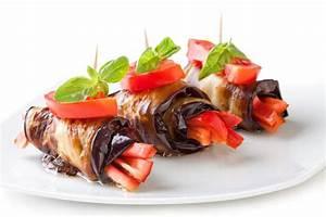 Easy Recipe Vinegar Dressed Eggplant Roll Ups With Tomato