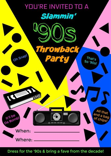 throw  perfect  throwback party  theme