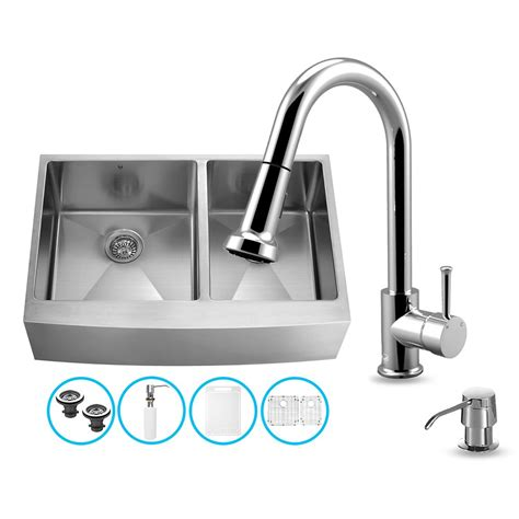 36 stainless steel sink vigo vg15265 vigo all in one 36 inch farmhouse stainless