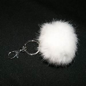 Porte Clé Pompon : porte cl s pompon fausse fourrure blanche porte cl s ~ Teatrodelosmanantiales.com Idées de Décoration