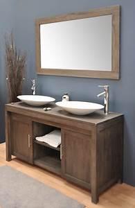 Meuble 2 vasques salle de bain castorama for Salle de bain design avec meuble sous vasque bois castorama