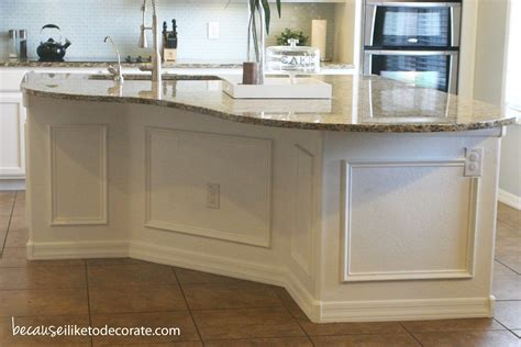 wainscoting kitchen island kitchen makeover 1 4 island molding because i like to 3304
