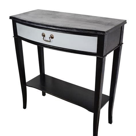 black vintage table l 74 off etsy etsy vintage black and grey console table