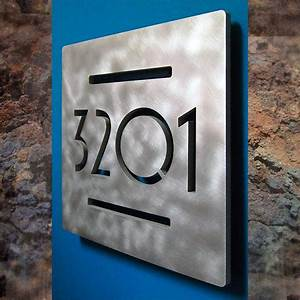 custom euro square floating house numbers With floating house letters
