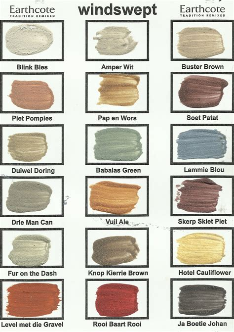 the true colours of south africa colour chart true