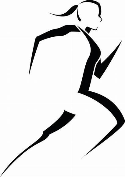Runner Clip Silhouette Marathon Stress Tattoos Woman