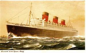 Cunard Line's RMS QUEEN MARY – First class lounge