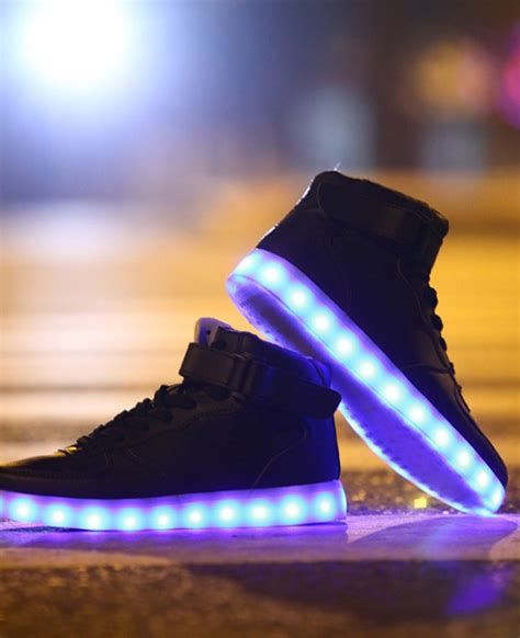 light up high tops unisex high tops light up shoes black neonjam london