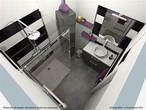Plan 3d Salle De Bain : salle de bain rennes nos realisations en r novation et ~ Melissatoandfro.com Idées de Décoration
