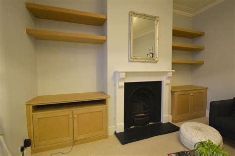 Bespoke alcove cupboards & shelving   Bristol hand build