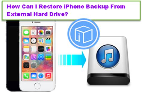 backup iphone to external drive how can i restore iphone backup from external drive 1099