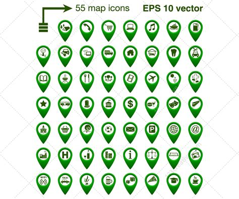 vector icon set      place