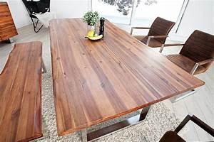 Baumstamm Als Tisch : massiver baumstamm tisch genesis 200cm akazie massivholz ~ Watch28wear.com Haus und Dekorationen