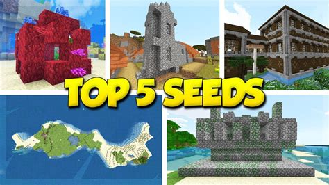 top  minecraft seeds pc java bedrock mcpe