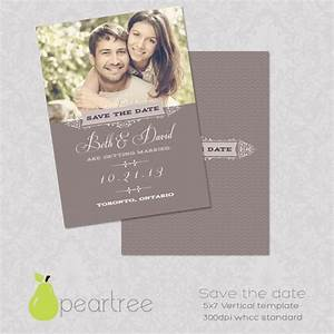5x7in save the date psd template 106 print for Save the date psd