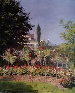 Flowering Garden at Sainte-Adresse by Claude Monet