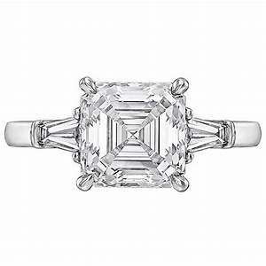 betteridge 301 carat asscher cut diamond ring at 1stdibs With asscher cut diamond wedding rings