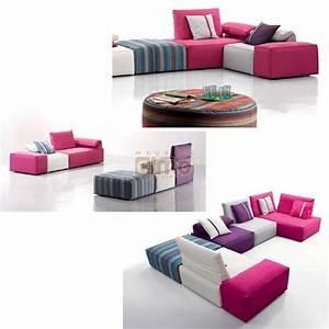 Canapé d'angle canapé tissu modulable design contemporain