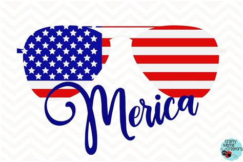 Perfect for using with your cricut, silhouette & more. Merica Sunglasses Svg, 4th Of July Clipart Independence ...