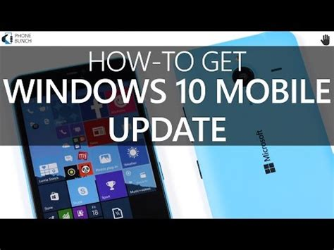 how to install windows 10 mobile update on your