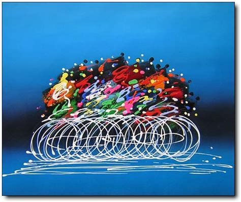modern abstract art deco oil painting bicycle racing race