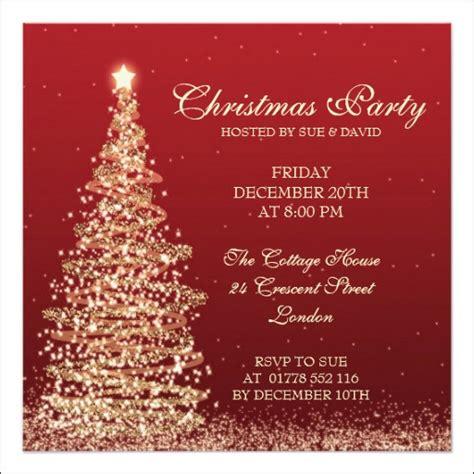 christmas invitation templates sle templates