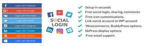 Wordpress Social Login (facebook, Google, Twitter