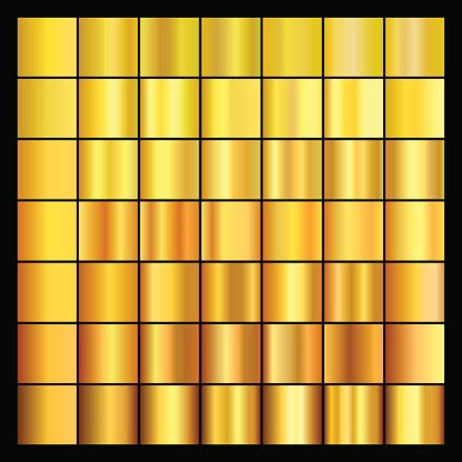 set  gold gradients collection  gold backgrounds stock