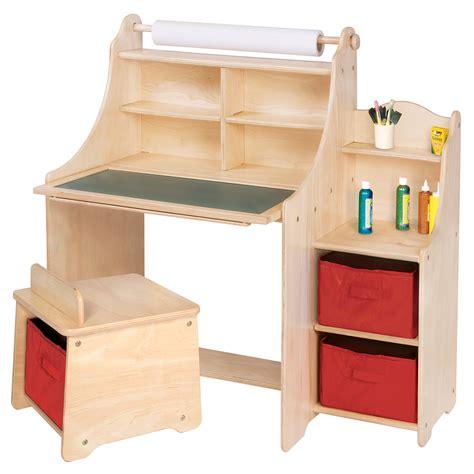 toddler desk with storage webnuggetz 461 | Guidecraft Art Equipment 36 W Art Desk Set with Storage