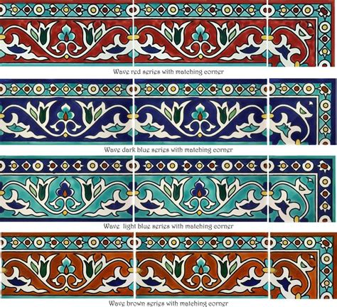 Decorative Subway Tiles & Borders Hand Painted By The