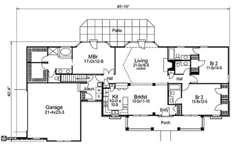 open living house plans open country living 57046ha architectural designs