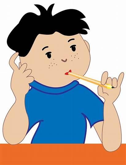 Thinking Child Clipart Parents Clip Divorce Boy