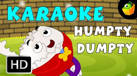 humpty dumpty karaoke version  lyrics cartoon