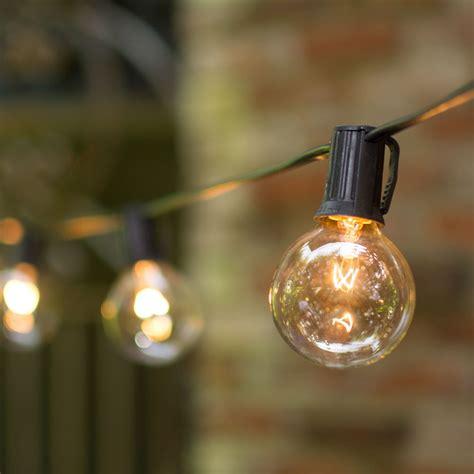 string lights globe string lights 2 in bulbs c9 25 ft black wire